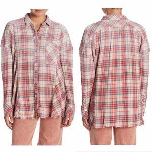 Free People Tops - Free People Tunic Juniper Ridge Plaid Flannel Top